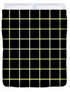 Grid Boxes In Black 09-p0171 Duvet Cover