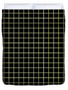Grid Boxes In Black 18-p0171 Duvet Cover