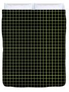 Grid Boxes In Black 30-p0171 Duvet Cover