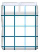 Grid Boxes In White 05-p0171 Duvet Cover