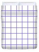 Grid Boxes In White 09-p0171 Duvet Cover