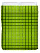 Grid In Black 18-p0171 Duvet Cover