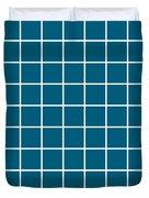 Grid In White 09-p0171 Duvet Cover