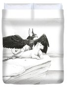 Griffin And Lioness Duvet Cover
