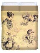 Griffonnage 1814 Duvet Cover