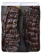 Grilled Aubergine Duvet Cover