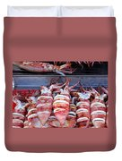 Grilled Squid For Sale Duvet Cover