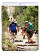 Grinding It Out On The Manitou Incline And Barr Trail Duvet Cover