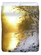 Grings Mill Fog 90-010 Duvet Cover