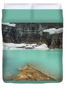 Grinnell And Salamander Glaciers Duvet Cover by Jemmy Archer