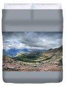 Grinnell Glacier Overlook Panorama - Glacier National Park Duvet Cover
