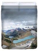 Grinnell Glacier Overlook Vista - Glacier National Park Duvet Cover