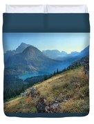 Grinnell Glacier Trail Hiker Duvet Cover