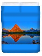 Grinnell Point Alpenglow Panorama Duvet Cover