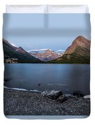 Grinnell Point Over Swiftcurrent Lake Duvet Cover