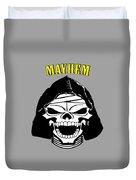 Grinning Mayhem Death Skull Duvet Cover