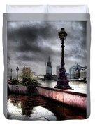 Gritty Urban London Landscape Duvet Cover