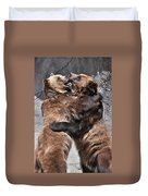 Grizzlies' Playtime 2 Duvet Cover
