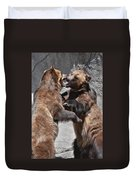 Grizzlies' Playtime 3 Duvet Cover