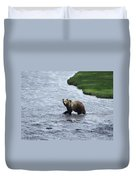 Grizzly At Yellowstone Duvet Cover