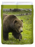 Grizzly Bear Boar-signed-#8517 Duvet Cover