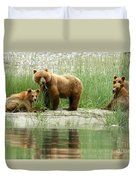 Grizzly Bear Family  Duvet Cover