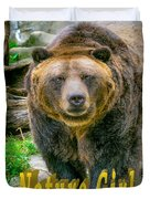 Grizzly Bear Nature Girl    Duvet Cover