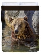 Grizzly Bear - San Diego Zoo Duvet Cover
