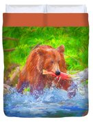 Grizzly Delights Duvet Cover