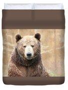 Grizzly Portrait Duvet Cover