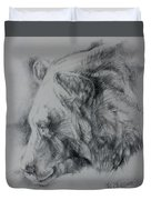 Grizzly Sketch Duvet Cover