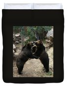 Grizzly Waltz Duvet Cover