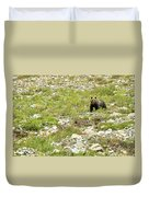 Grizzly Watching People Watching Grizzly No. 2 Duvet Cover