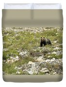 Grizzly Watching People Watching Grizzly No. 3 Duvet Cover