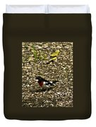 Grosbeak With Quizzical Look Duvet Cover