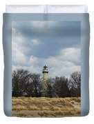 Grosse Point Lighthouse Portrait Duvet Cover