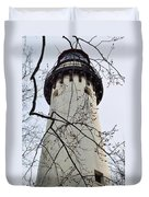 Grosse Point Lighthouse Tower Duvet Cover