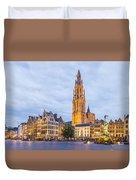 Grote Markt Square In Antwerp Duvet Cover