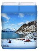 Grotfjord Norway Duvet Cover