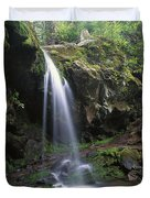 Grotto Falls In The Great Smokies Duvet Cover