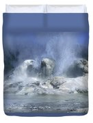 Grotto Geyser - Yellowstone National Park Duvet Cover
