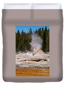 Grotto Geyser Eruption Two Duvet Cover