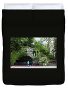 Grotto Of Our Lady Of Lourdes Duvet Cover