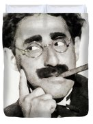 Groucho Marx, Vintage Comedy Actor Duvet Cover