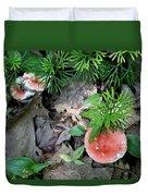 Ground Pine And Fungi Duvet Cover