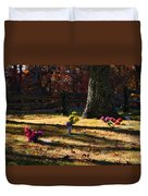 Groundhog Hill Cemetery Duvet Cover