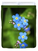 Group Of Blue Flowers Forget-me-not Duvet Cover