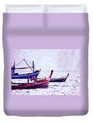 Group Of Fishing Boats Duvet Cover
