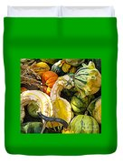 Group Of Gourds Expressionist Effect Duvet Cover