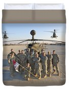 Group Photo Of U.s. Soldiers At Cob Duvet Cover